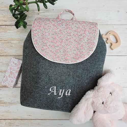 Sac à dos enfant, sac maternelle liberty Ffion rose