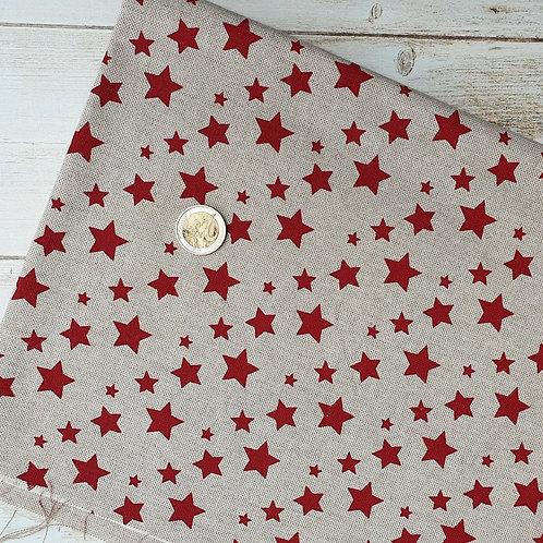 """Coupon bachette coton motif """"étoiles"""""""