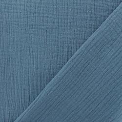 tissu-oeko-tex-double-gaze-de-coton-bleu