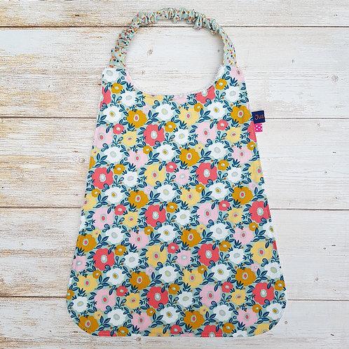 Serviette élastiquée personnalisable coton motifs fleurs colorées