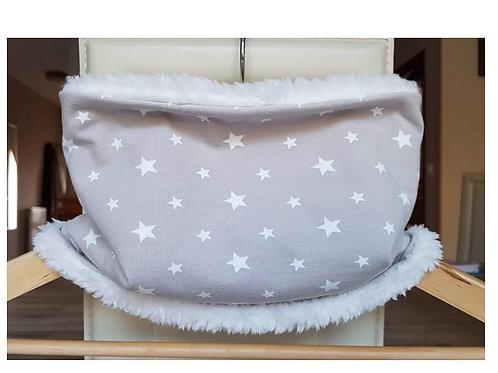 Snood enfant jersey taupe motif étoiles et douillette