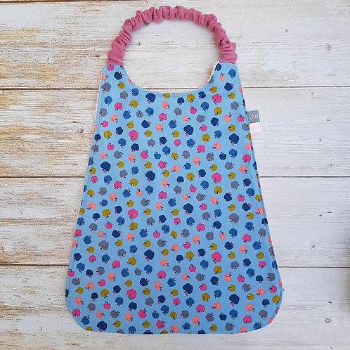 Serviette élastiquée personnalisable coton motifs petites pommes colorées
