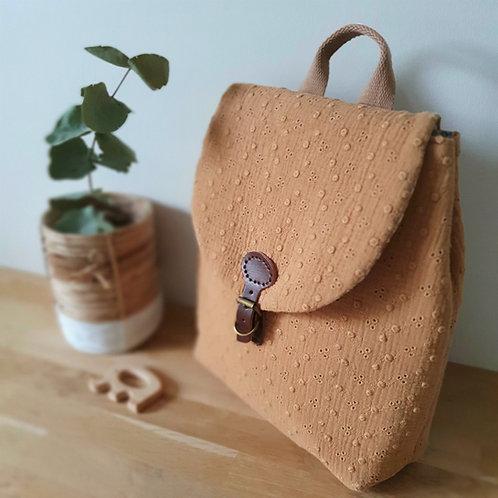 Sac à dos enfant, sac personnalisé,  sac maternelle double gaze brodée