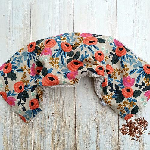 Bouillotte sèche déhoussable 31 cm housse coton riffle paper co floral et éponge