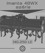 Imant 48WX széria - 2,4 ha/óra - max. 250 le