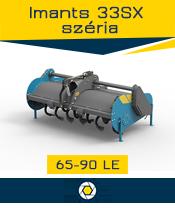 Imants 33 széria - 0,7 ha/óra - max. 90 le
