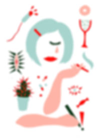 "Illustration on Lena Dunhams book ""Not that kind of girl"" by graphic designer Johanna Bruun"