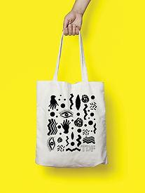 Tote bag design for Turku Design Festival 2016 by graphic designer Johanna Bruun.