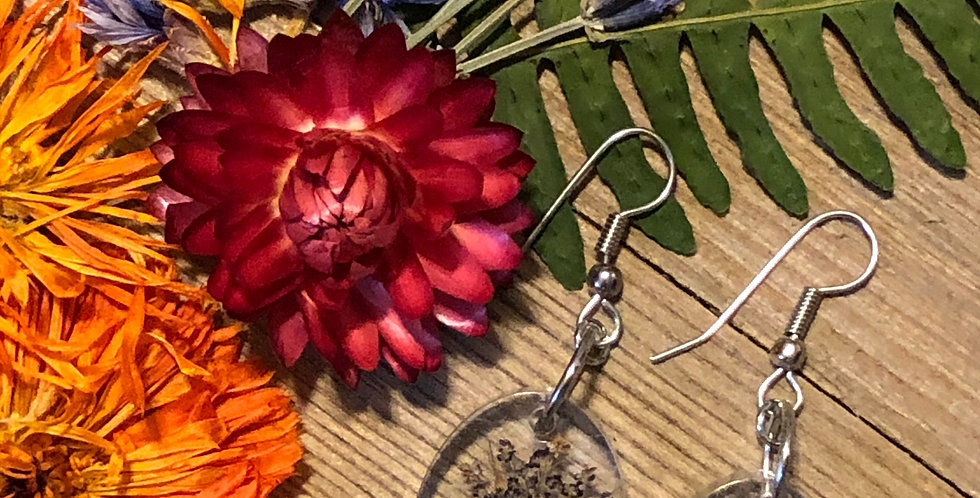 Drunken Lace, Mugwort & Ferns - Handpicked Botanical Earrings