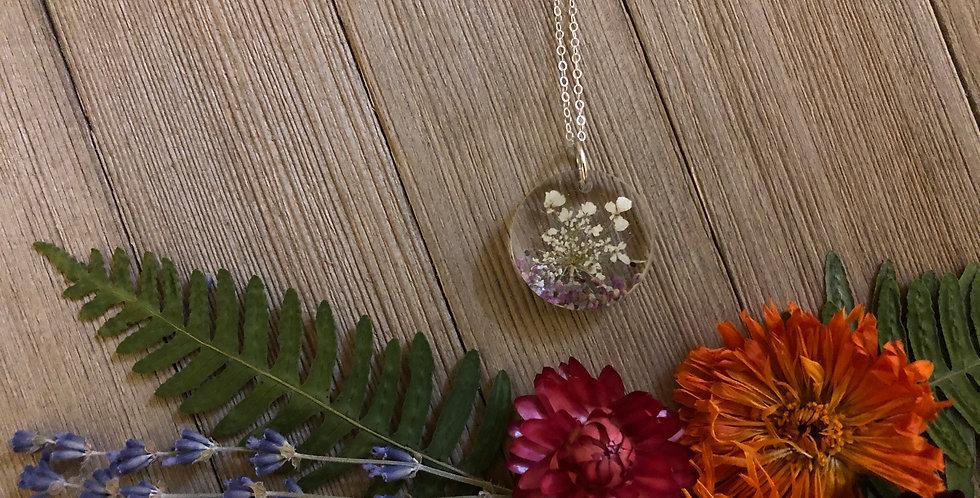 Queen of Summer -Handpicked Botanical Pendant