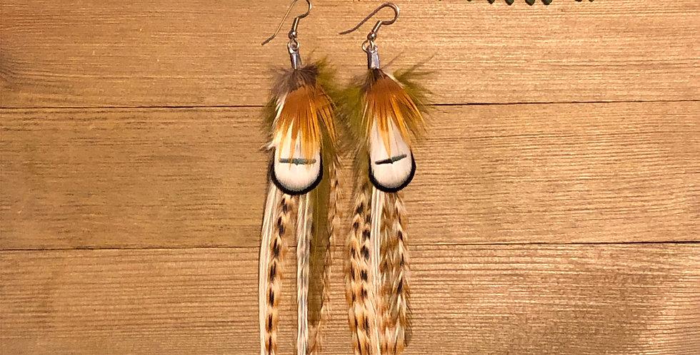 Sunshine & Fern - Medium Feather Earrings