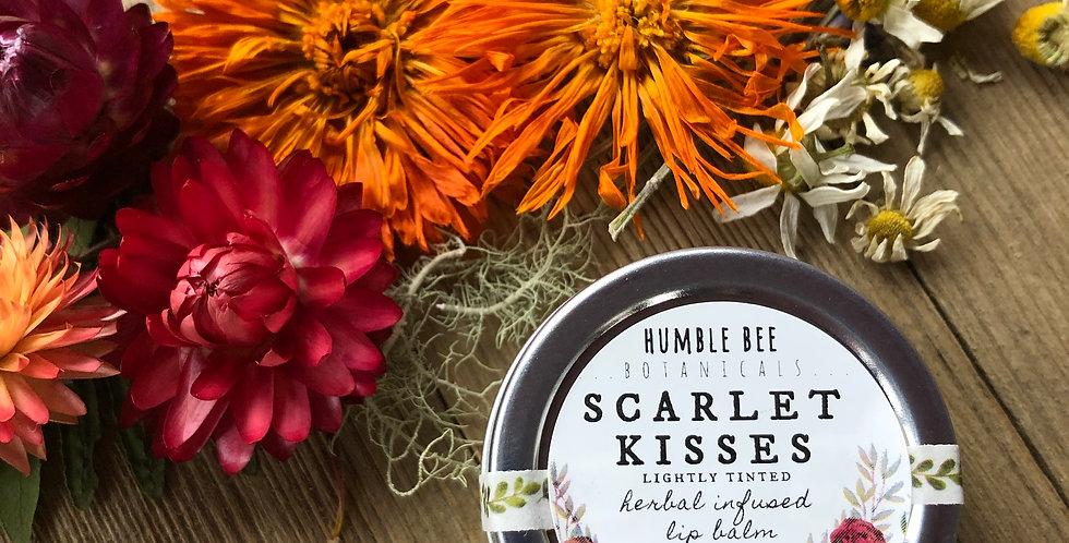 Scarlet Kisses - Lightly Tinted - Herbal Lip Balm