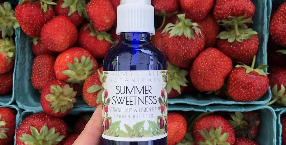 Summer Sweetness - Strawberry + Lemon Balm Hydrosol