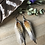 Thumbnail: Ray of Sunshine - Small Feather Earrings