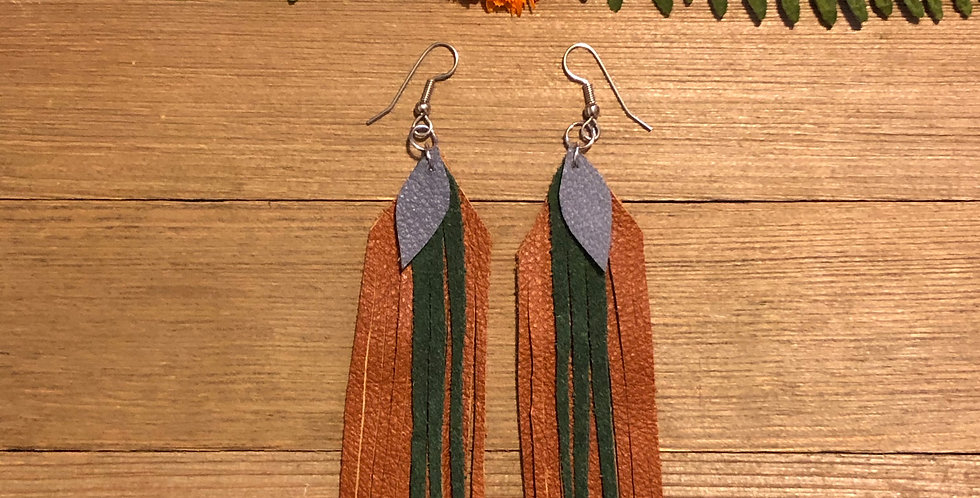 Forest Dangle - Leather Earrings
