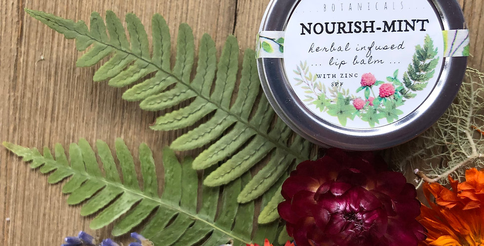 Nourish Mint Herbal Lip Balm