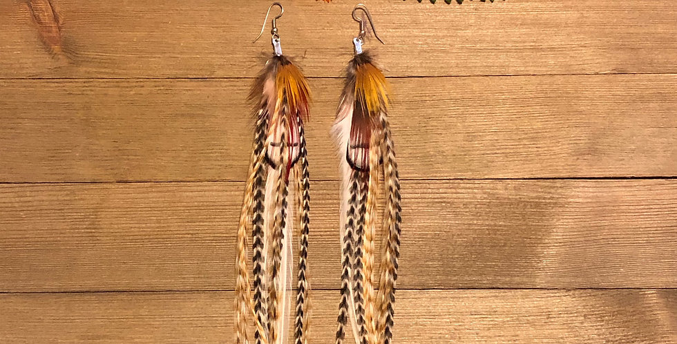 Rising Phoenix - Long Feather Earrings
