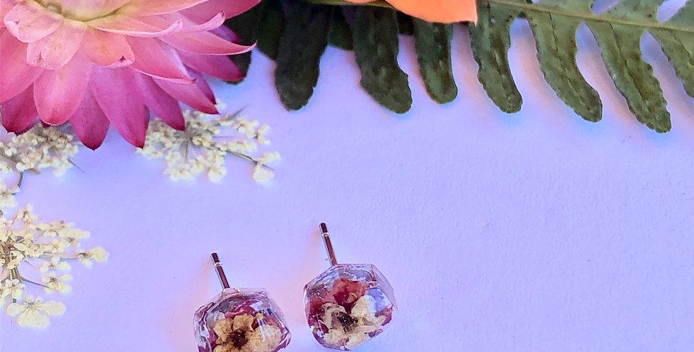 Wild Rose & Elderflower - Itty Bitty Botanical Studs
