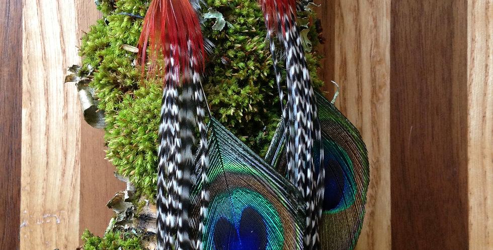 Fire in Your Eyes - Long Feather Earrings