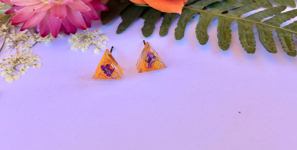 Calendula & Alyssum - Itty Bitty Botanical Studs