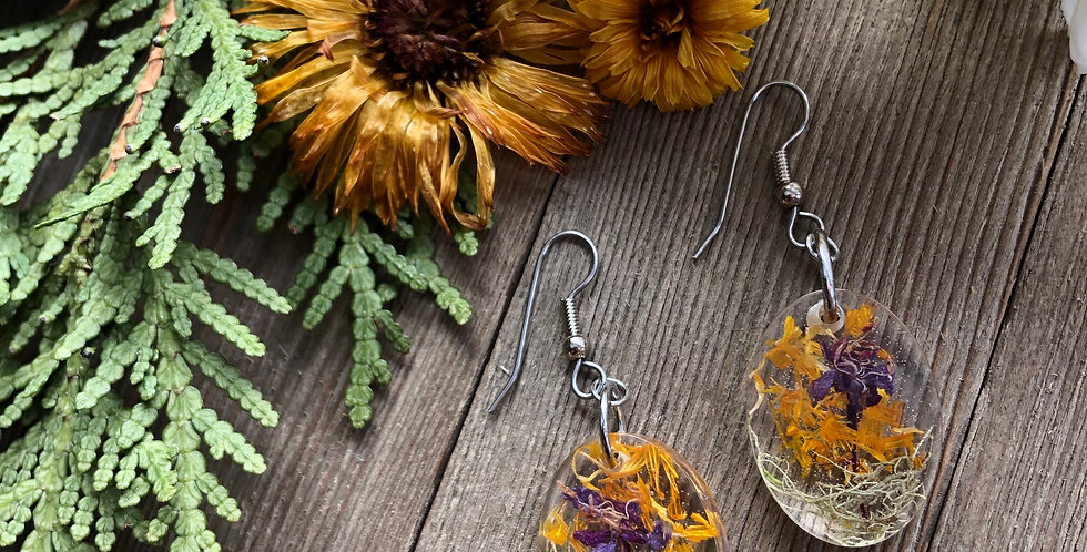 Moss, Calendula and Fireweed