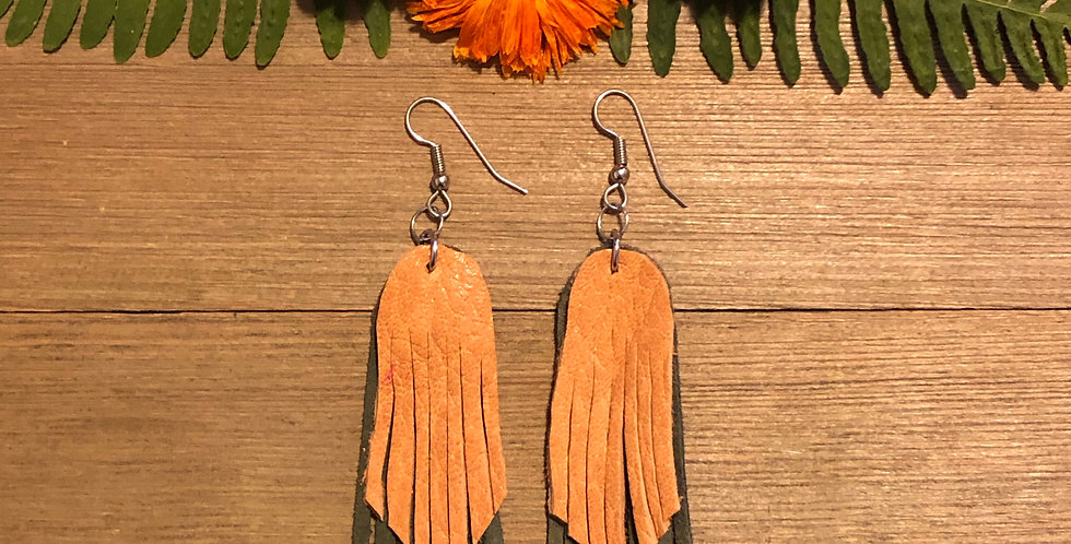 Dazzle Me - Leather Earrings
