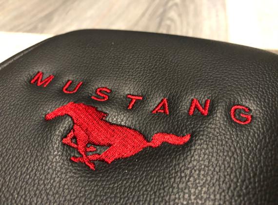 Ruby Red Mustang logo