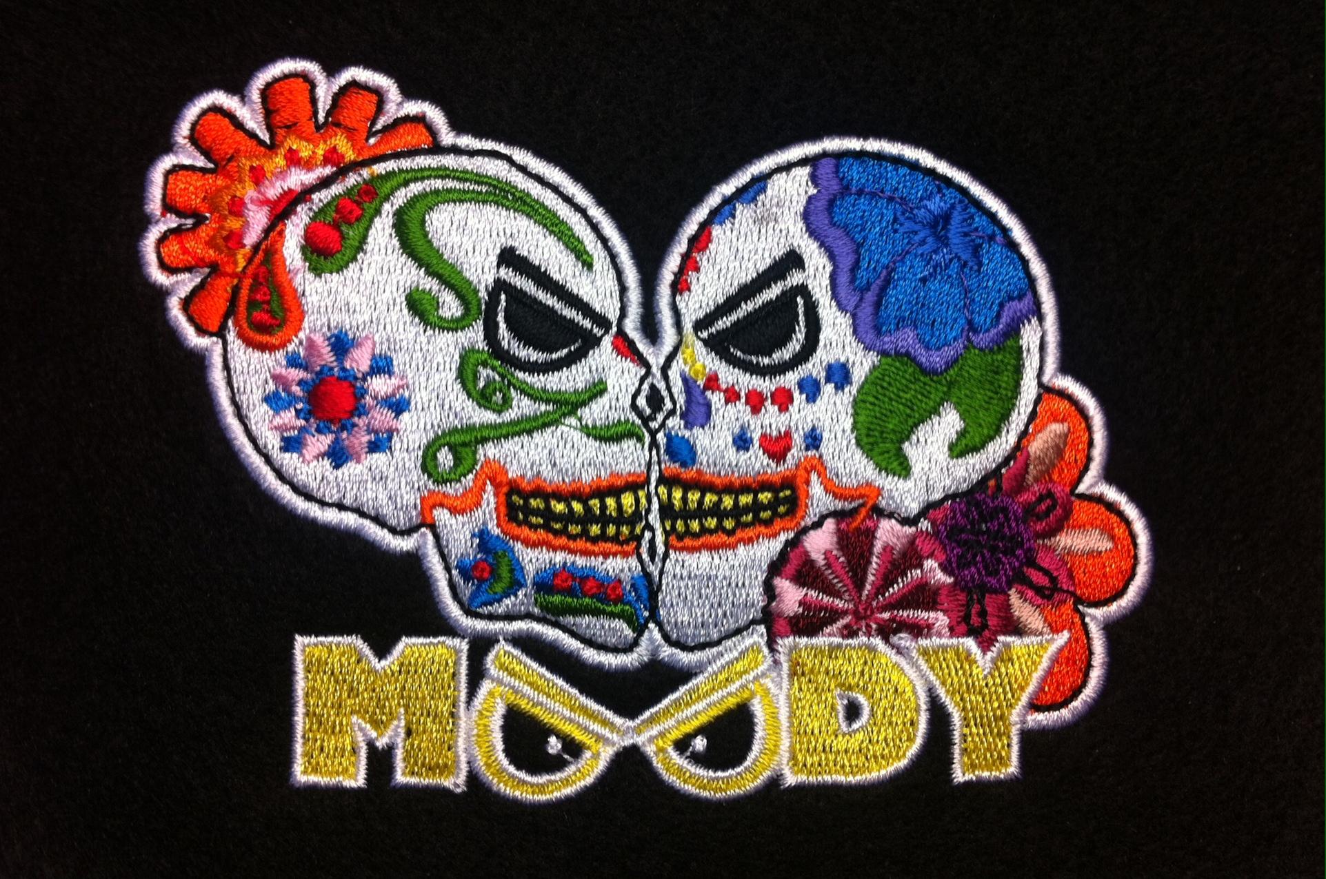Moodyskulls cap embroidery