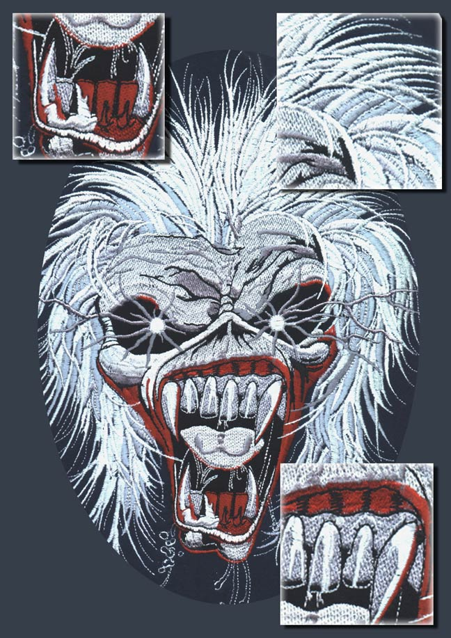 Eddie head design for Iron maiden tour jackets