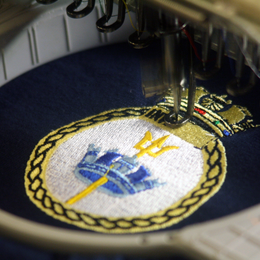 Royal Navy Crest Embroidery