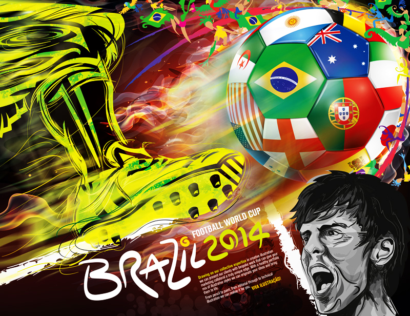 Brazil World Cup Illustration