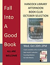 Join us Wednesday, Oct 20th at 2PM for a discussion of the book THE CHILDREN'S BLIZZARD by Melanie Benjamin.