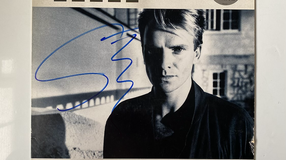 Sting The Dream Of The Blue Turtles LP Cover Autographed