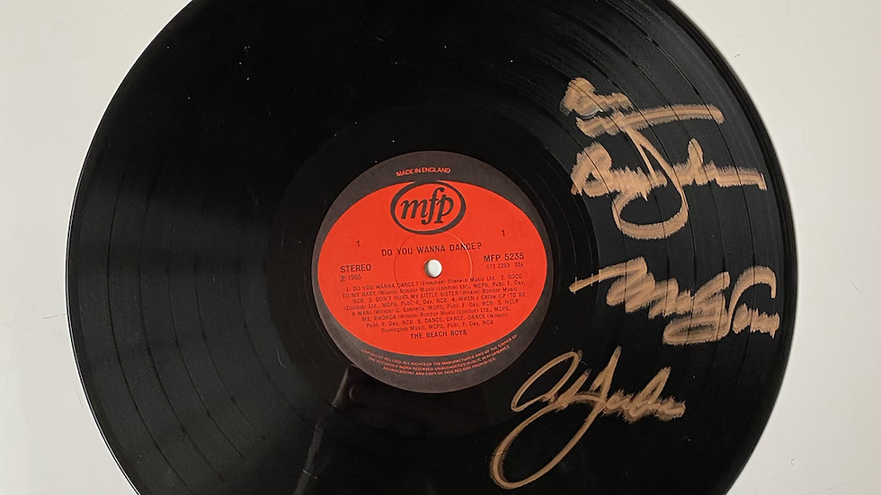 The Beach Boys Do You Wanna Dance? Vinyl Record Autographed