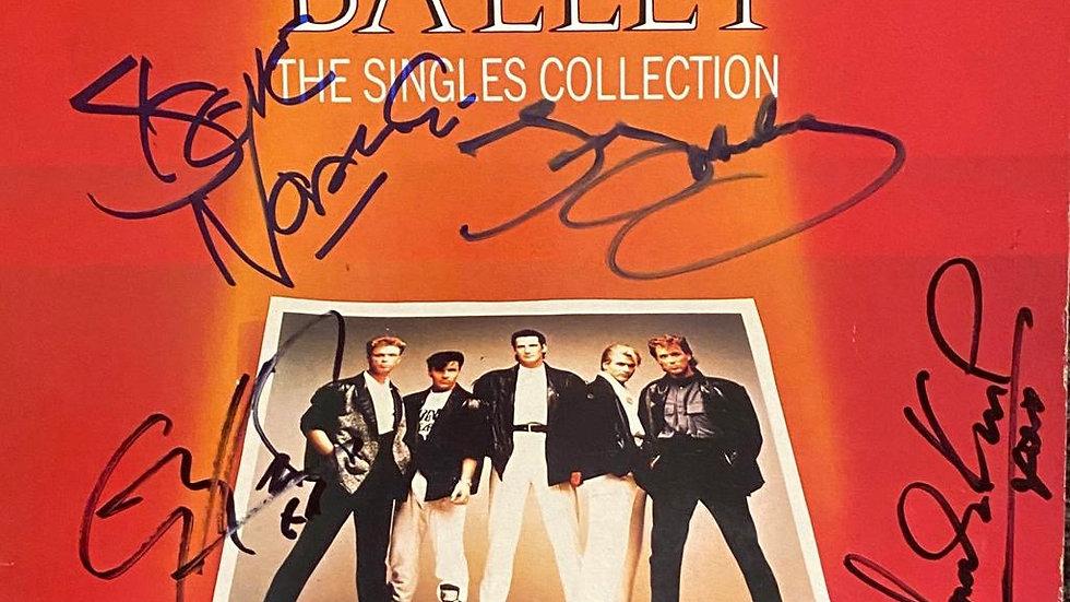 Spandau Ballet The Singles Collection LP Cover Autographed