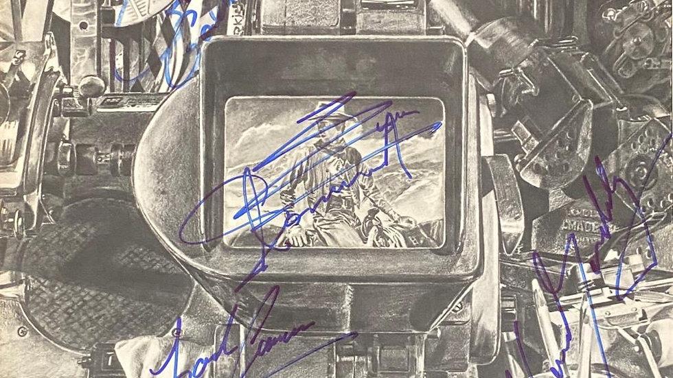 10cc The Original Soundtrack LP Cover Autographed