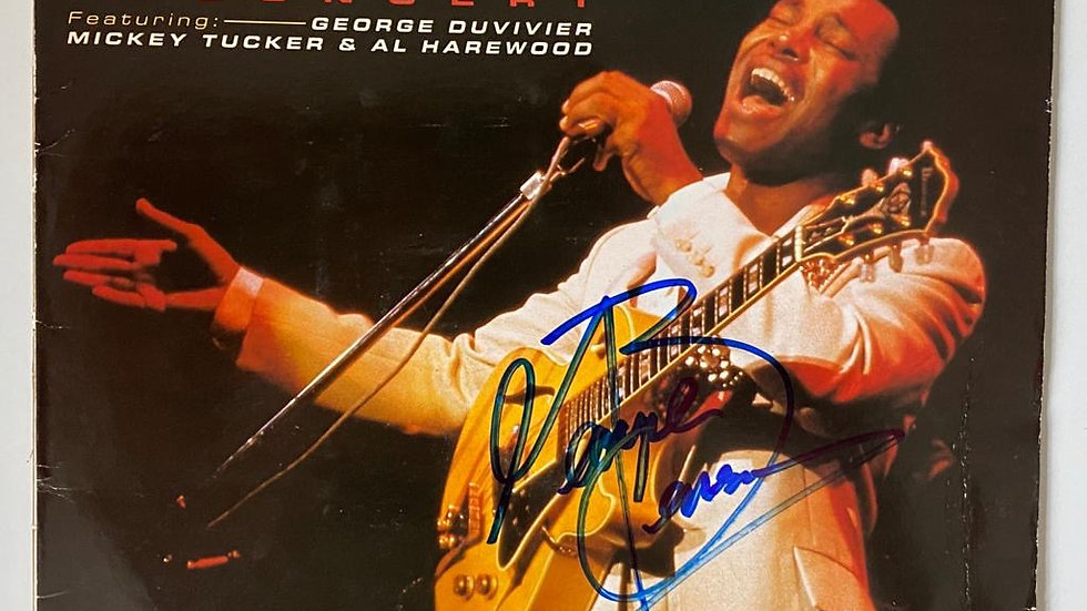 George Benson In Concert LP Cover Autographed