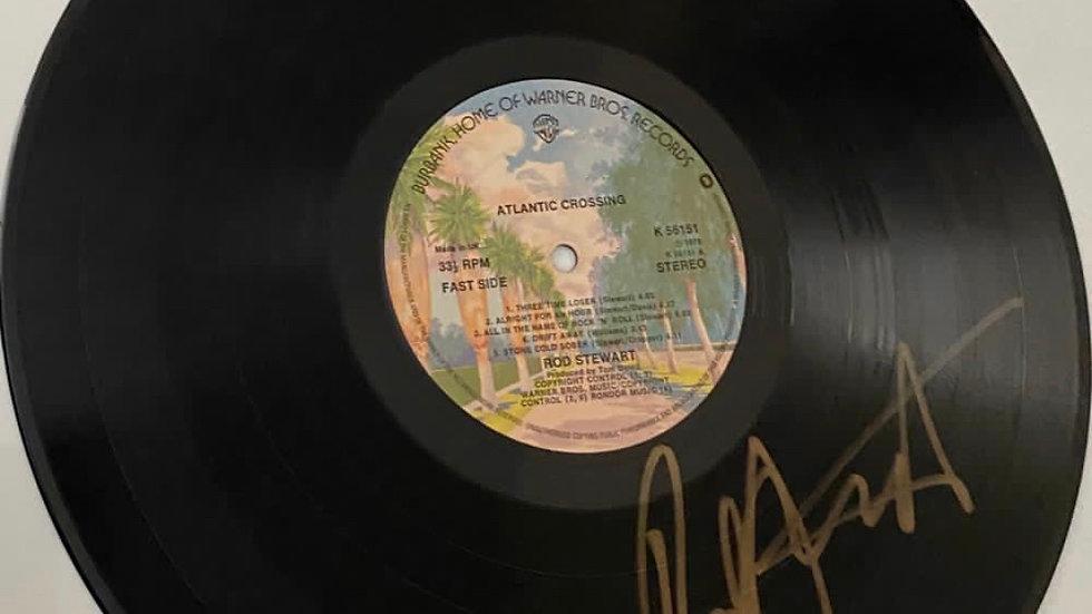 Rod Stewart Atlantic Crossing Vinyl Record Autographed