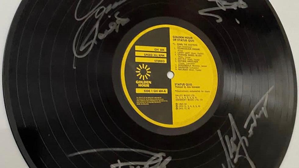 Status Quo Golden Hour Vinyl Record Autographed