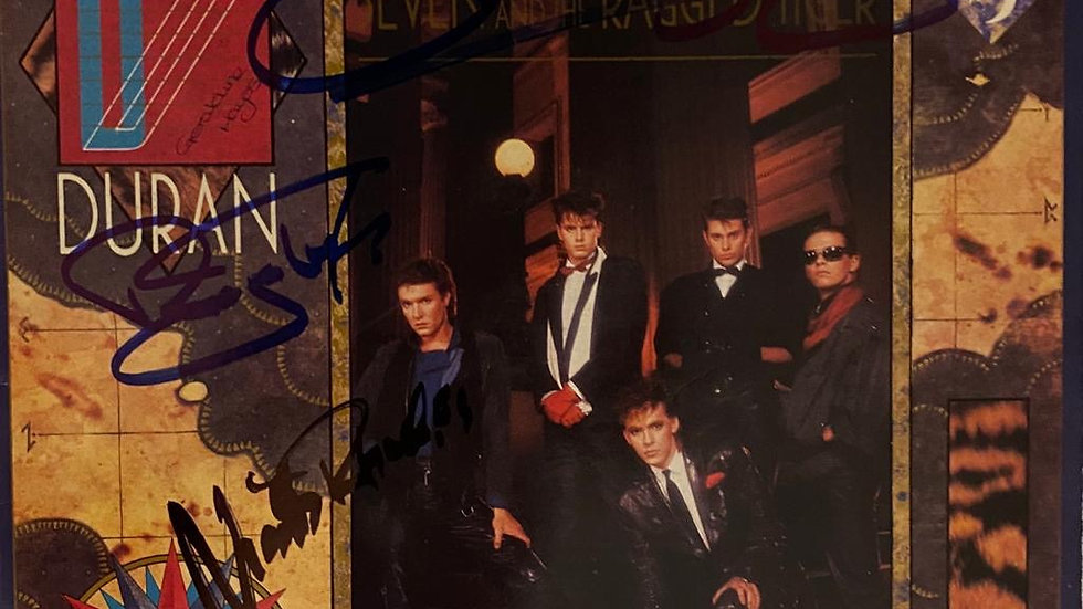 Duran Duran Seven And The Ragged Tiger LP Cover Autographed