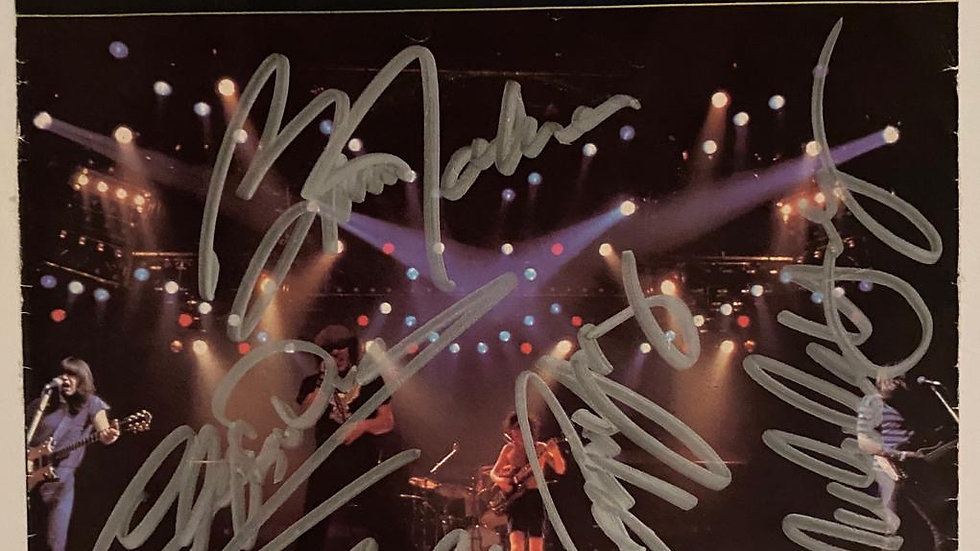 ACDC Lets Get It Up Single Cover Autographed