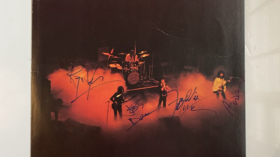 Queen A Night At The Opera Inner Sleeve Autographed