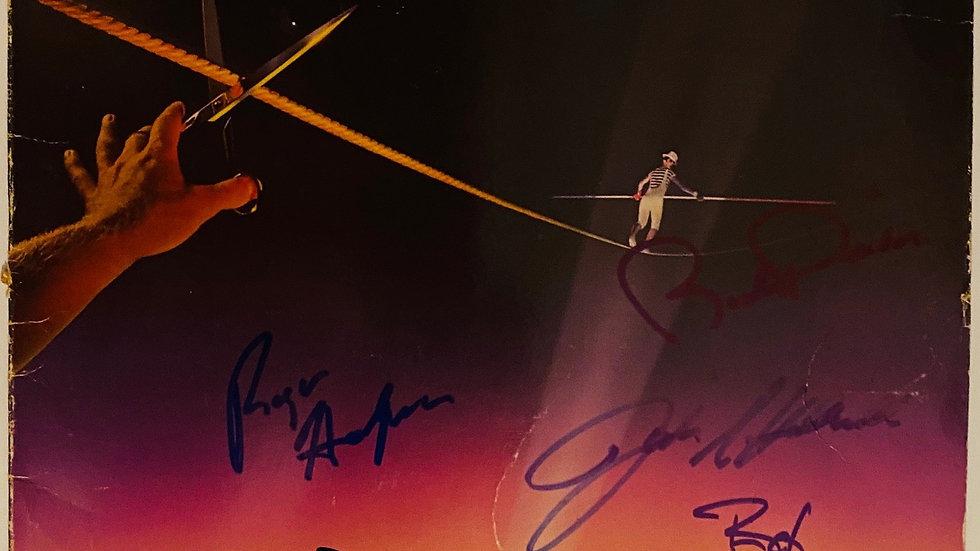 Supertramp Famous Last Words LP Cover Autographed