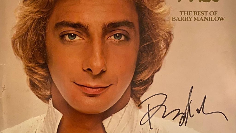 Barry Manilow The Best Of LP Cover Autographed