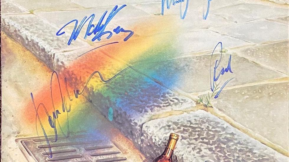 Level 42 The Pursuit Of Accidents LP Cover Autographed