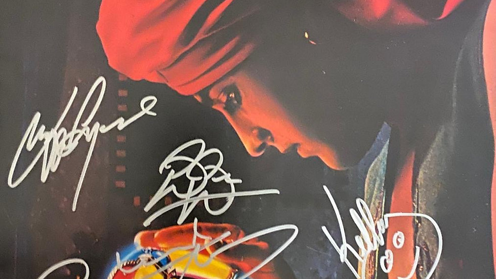 ELO Discovery LP Cover Autographed