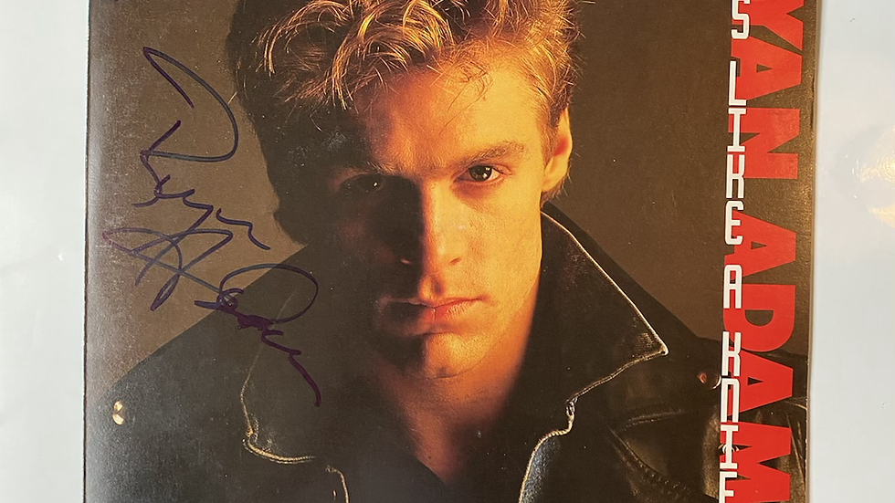 Bryan Adams Cuts Like A Knife LP Cover Autographed