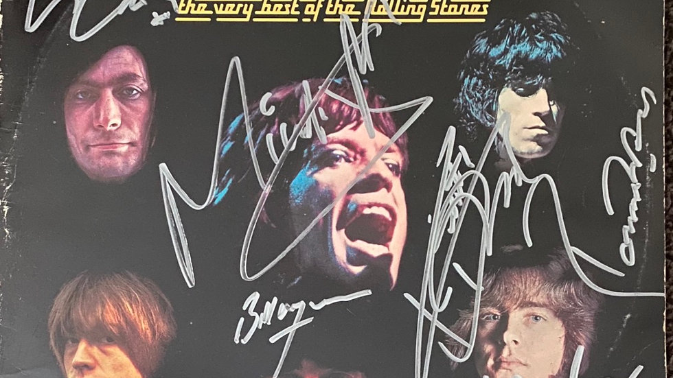 Rolling Stones Rolled Gold LP Cover Autographed