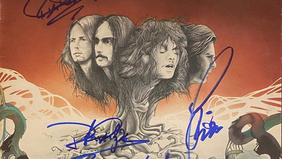 Quo By Status Quo LP Cover Autographed