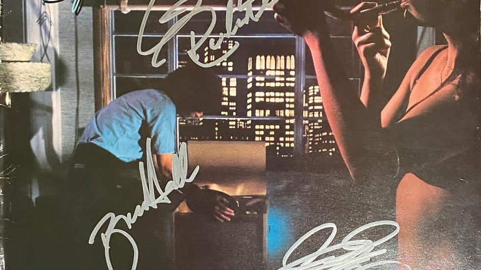 REO Speedwagon Hi Infidelity LP Cover Autographed